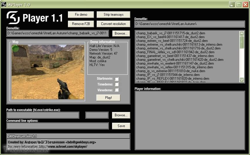 Demomanager - Программа для просмотра демок Counter-Strike и Half-Life