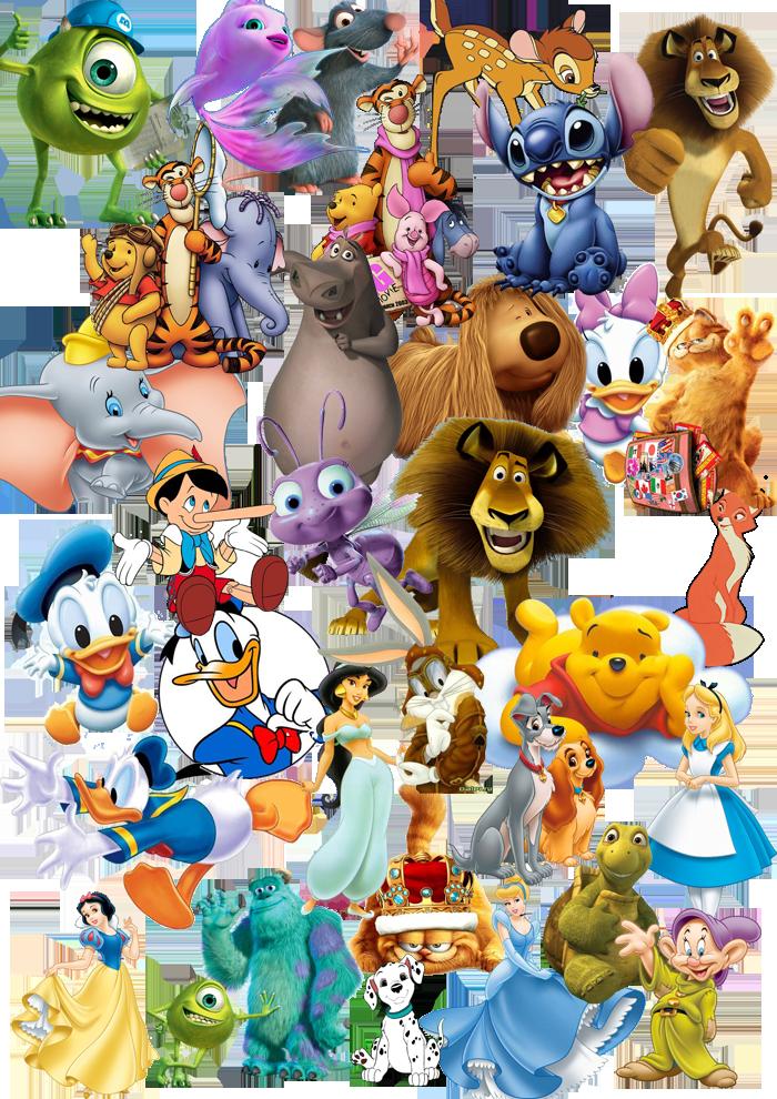 Герои зарубежных мультфильмов в формате PSD, 300 pdi.  Все по слоям, слои отключены.
