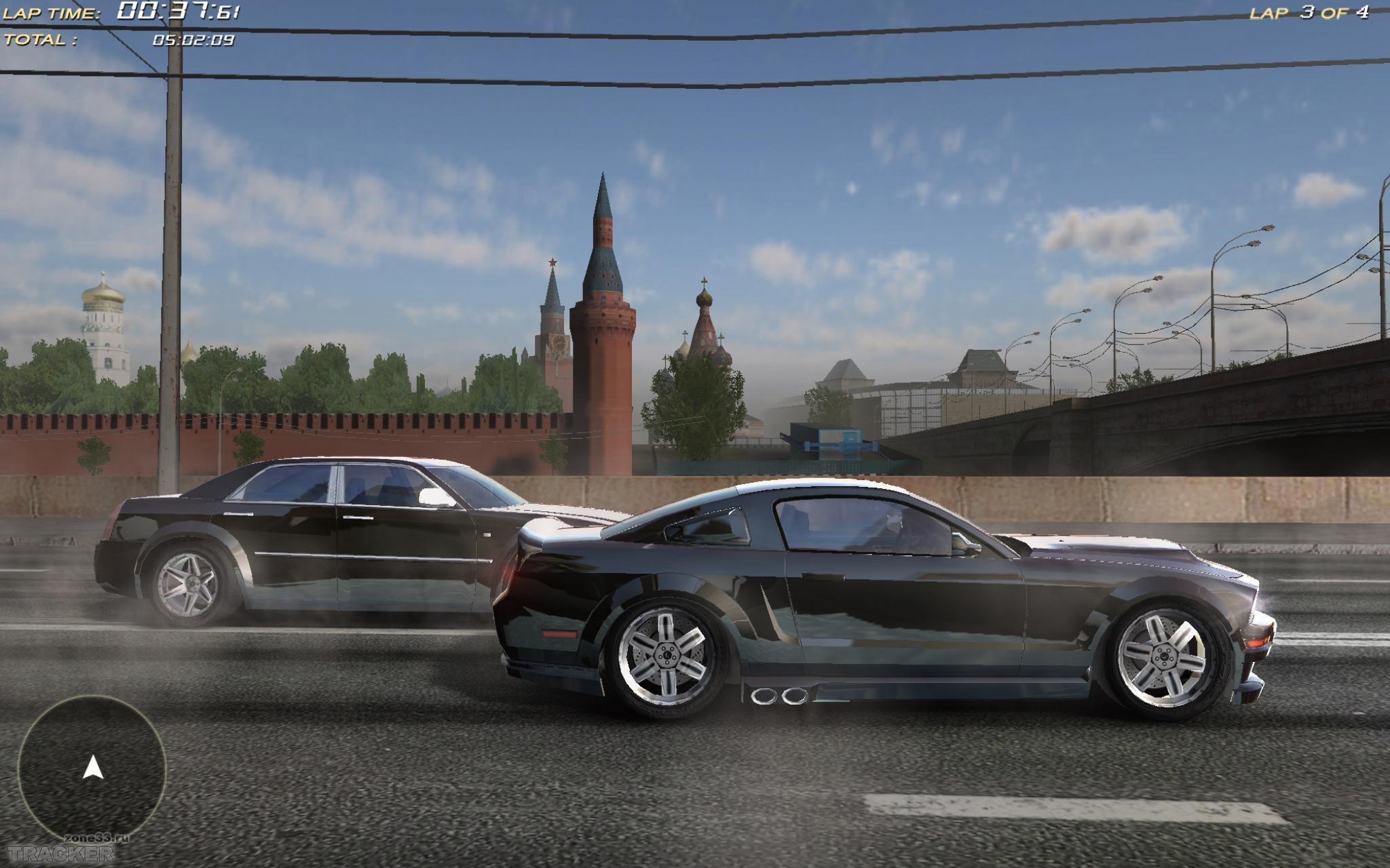 Особенности игры * Moscow Racer - гоночный симулятор, сочетающий