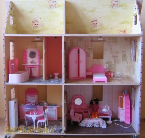 Картинки домиков для барби своими руками из картона
