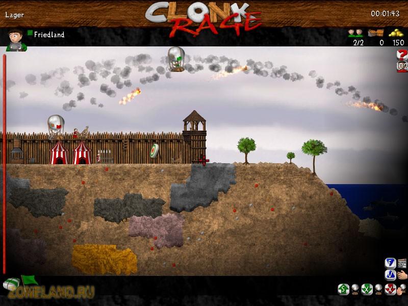 Клонк (Clonk Rage) Версия 4.9.10.13 Eng/Ger 2010, RTS, Головоломка, Аркада,