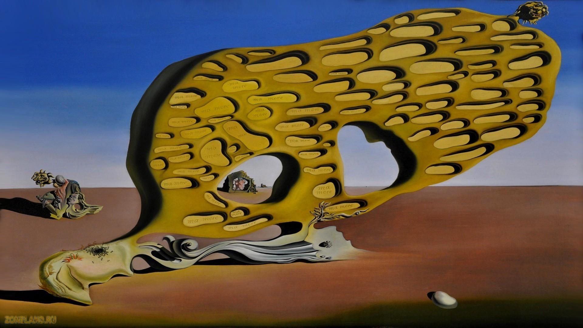 Обои картина, Salvador Dali, Просвещенные Удовольствия, сальвадор дали, сюрреализм. Разное foto 9