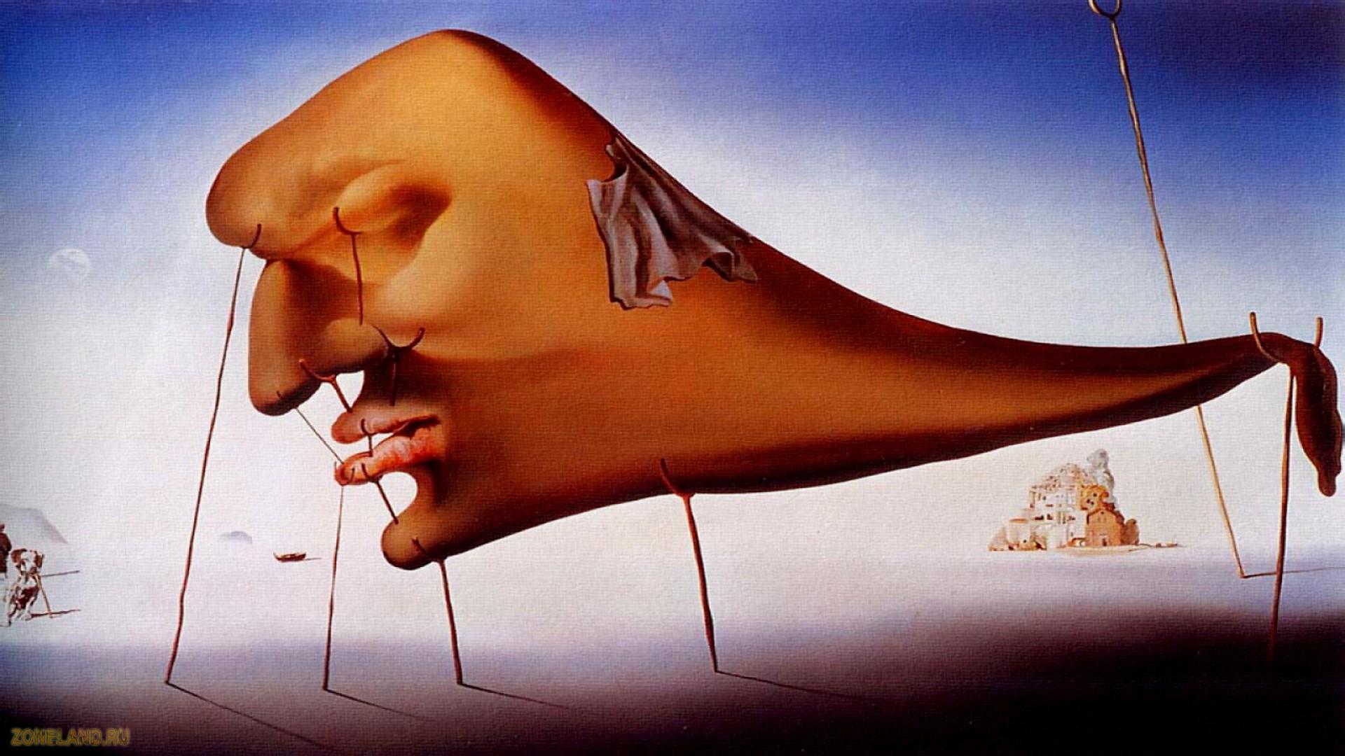 Обои картина, Salvador Dali, Просвещенные Удовольствия, сальвадор дали, сюрреализм. Разное foto 11
