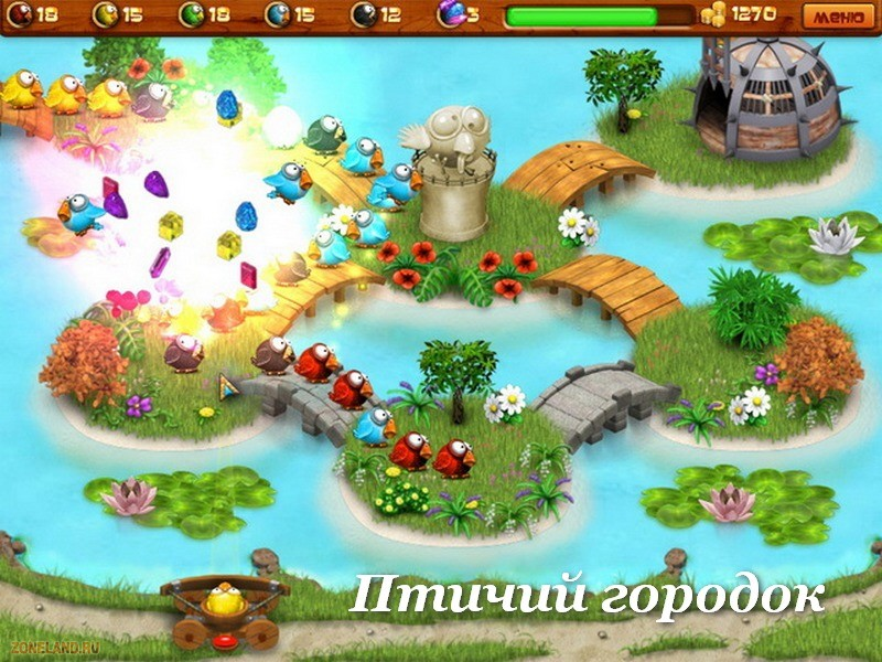 Игра Птичий городок является достойным представителем классических