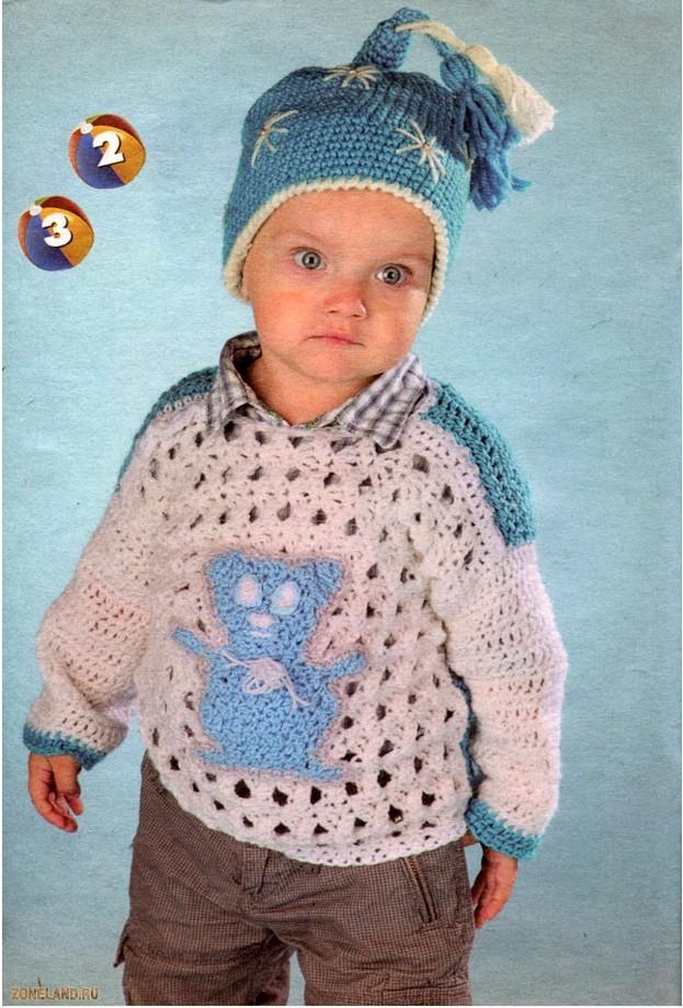 Вязание модно и просто. . Вяжем детям 12(46)-2011 (Вязание на спицах и крючком