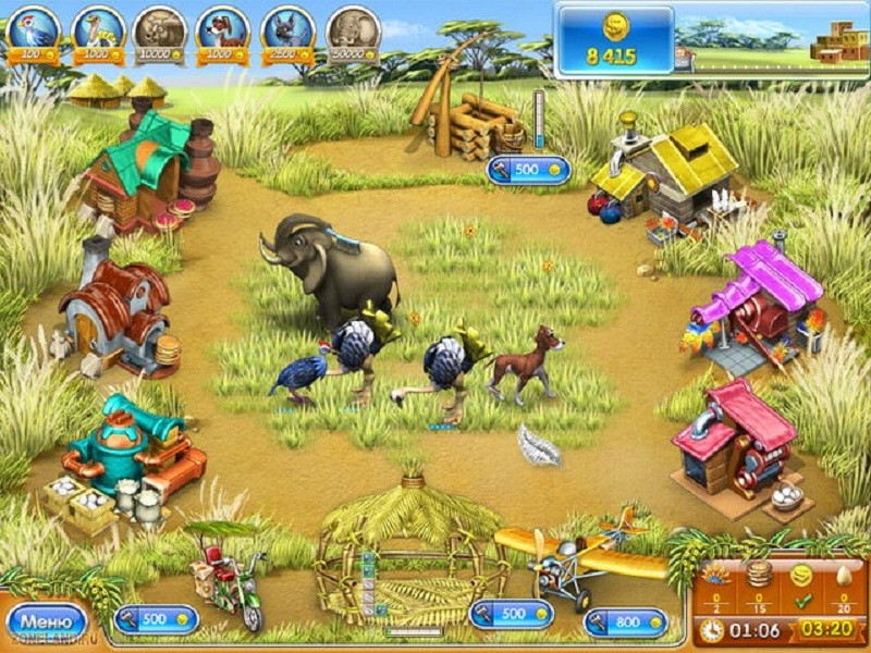 Посмотреть скриншот Веселая ферма 3. Мадагаскар.