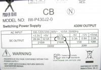 по линии 12Вольт всего лишь 18А, а написано что блок 430Вт.  Моего блока с трудом хватит для 8800GT...