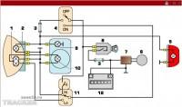 Схема системы освещения, распространенная на европейских мотоциклах.